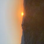 tramonto a Monteleone di Fermo nelle Marche