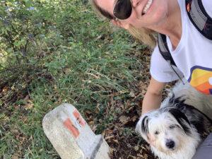 Me and Maia sulla Via Francigena