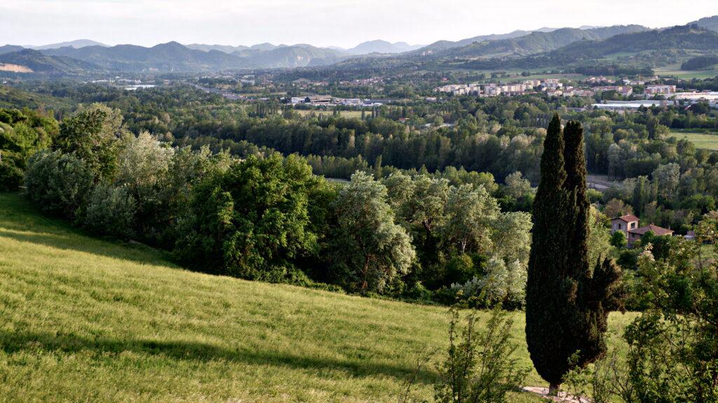 vista dalla nostra casa al interno del parco della Chiusa